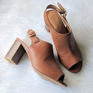 Old Navy Cognac Slingback Mules Size 10